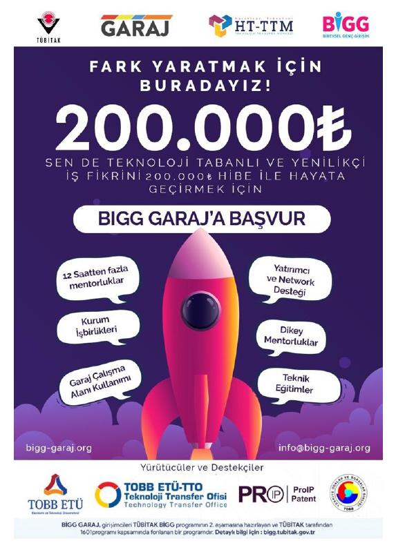 BİGG GARAJ 2020/2 Tanıtım Duyurusu